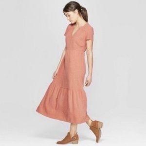 UNIVERSAL THREAD | linen blend maxi prairie dress